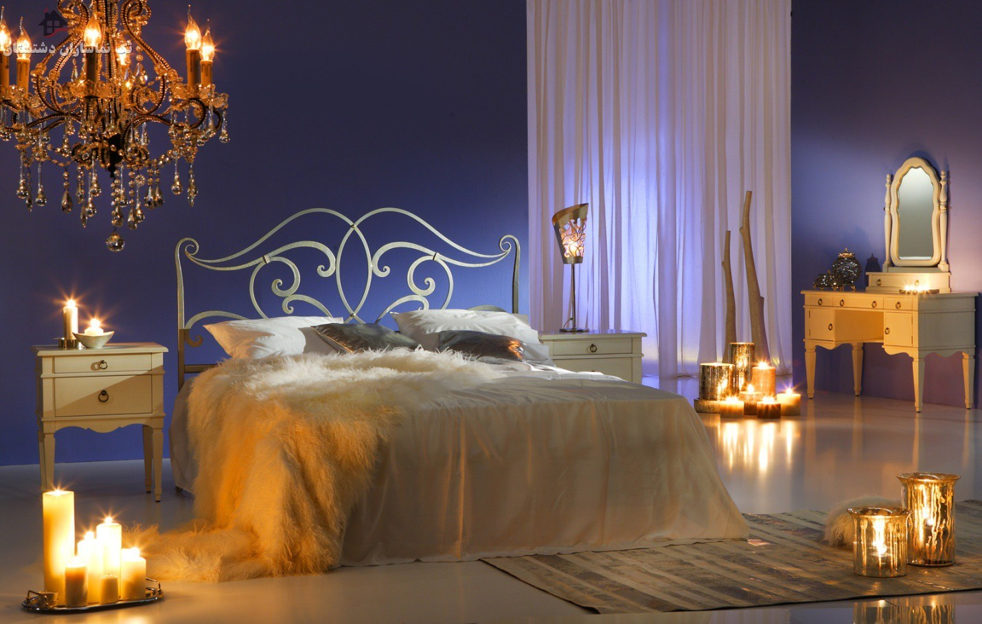 گالری تصویر اتاق خواب رومانتیک عروس را در اینجا ببینید