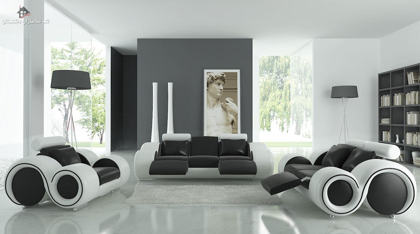 گالری تصویر دکوراسیون داخلی به رنگ مشکی